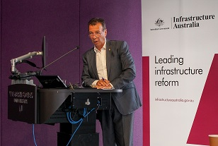 Charles at Infrastructure Australia forum