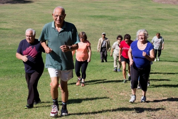 Auburn residents participating in exercise class as part of the council's Healthy Communities Initiative