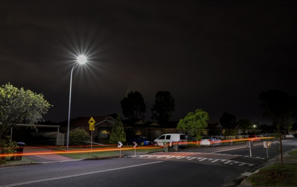New LED street lights at Bligh Park, Hawkesbury local government area