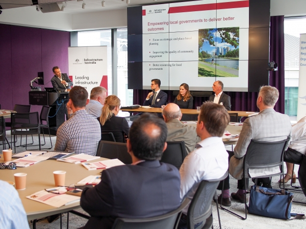 Panel discussion at the Infrastructure Australia Planning Liveable Cities report launch