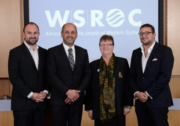 WSROC Executive 2015 -2016 (left to right): Cllr Michael Creed (Junior Vice President), Cllr Tony Hadchiti (President), Cllr Jacqueline Donaldson (Treasurer) and Cllr Steven Issa (Senior Vice President).
