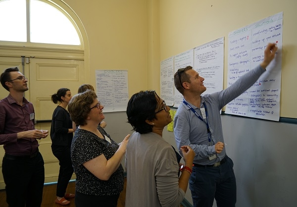 Western Sydney Citizen Science Forum participants completing a workshop task