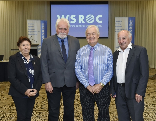 WSROC Executive, left to right: Treasurer, Clr Karess Rhodes, Liverpool City Council, President Barry Calvert, Mayor, Hawkesbury City Council, Senior Vice President, Mayor Tony Bleasdale, Blacktown City Council, Junior Vice President, Clr Don McGregor, Blue Mountains City Council