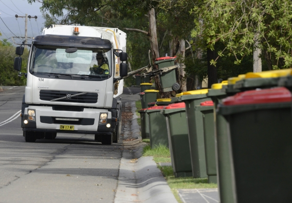 Council waste collection truck